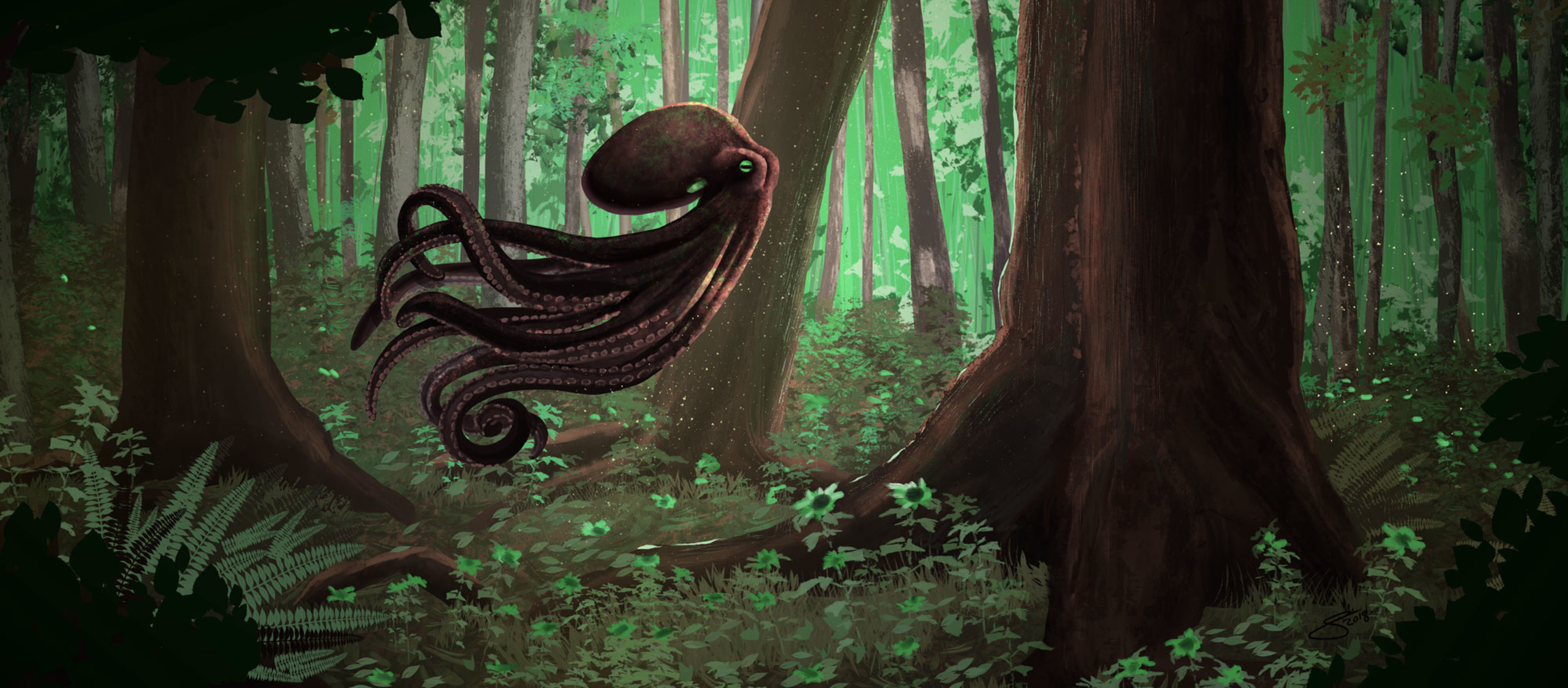 The Forest Octopoid Artwork by Eric Summers
