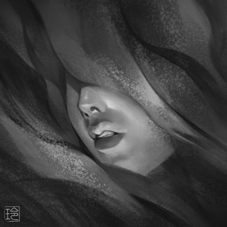 """阿形・黒"""" Agyō, Black Artwork by Reiko Murakami"""