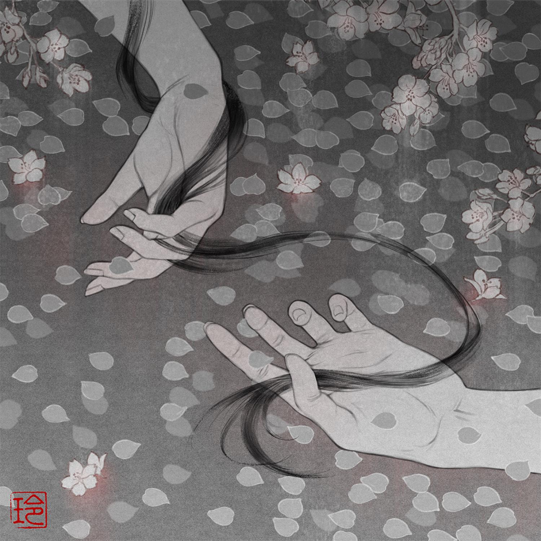 Beneath the Cherry Trees Artwork by Reiko Murakami