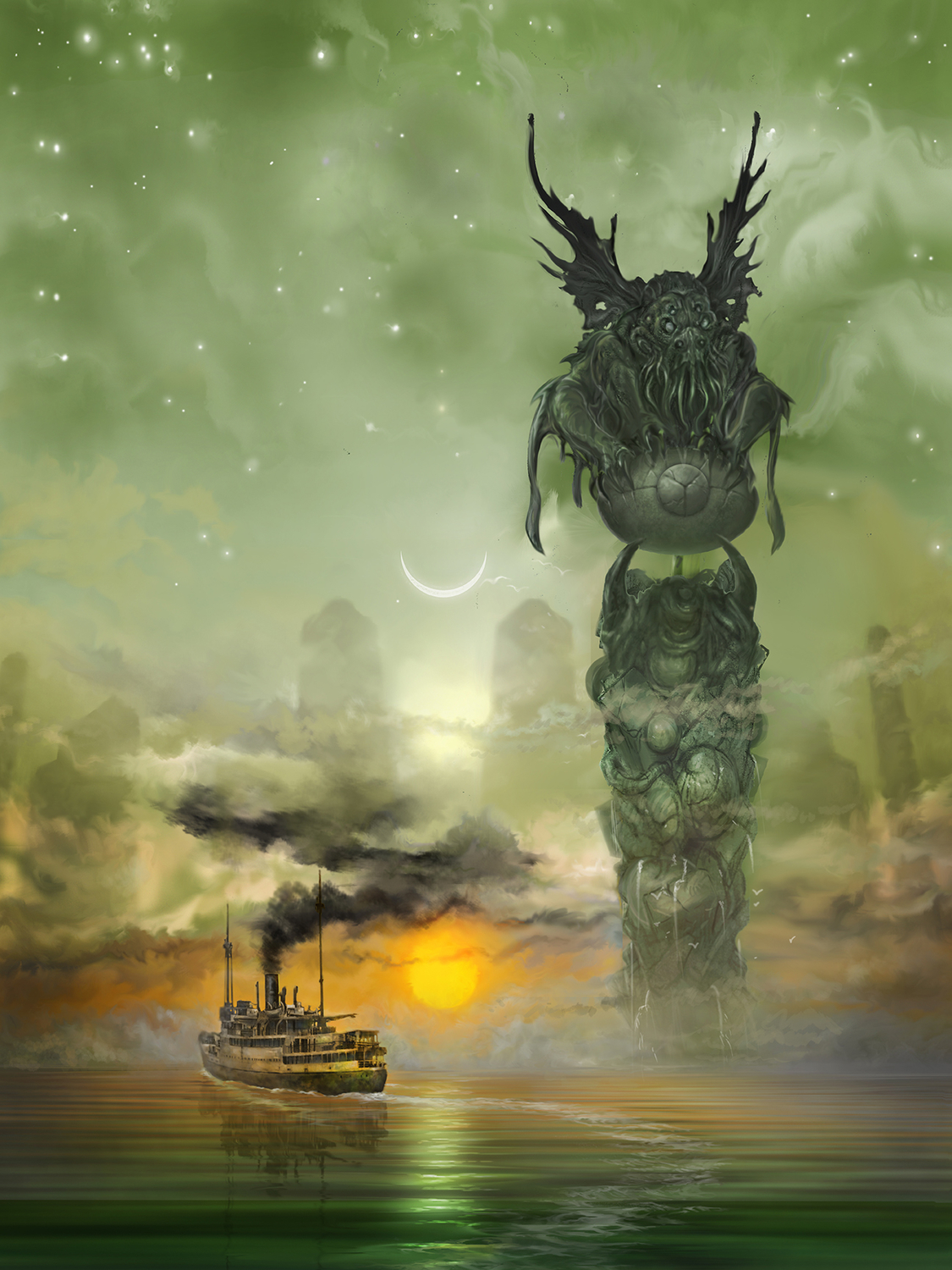 The Call of Cthulhu Artwork by Thomas Miller