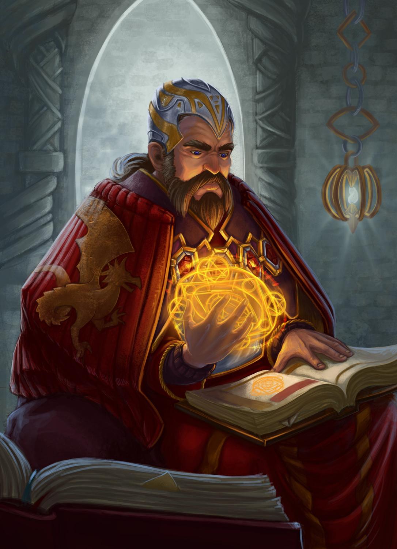 Merlin the Mage Artwork by Beatrice Pelagatti