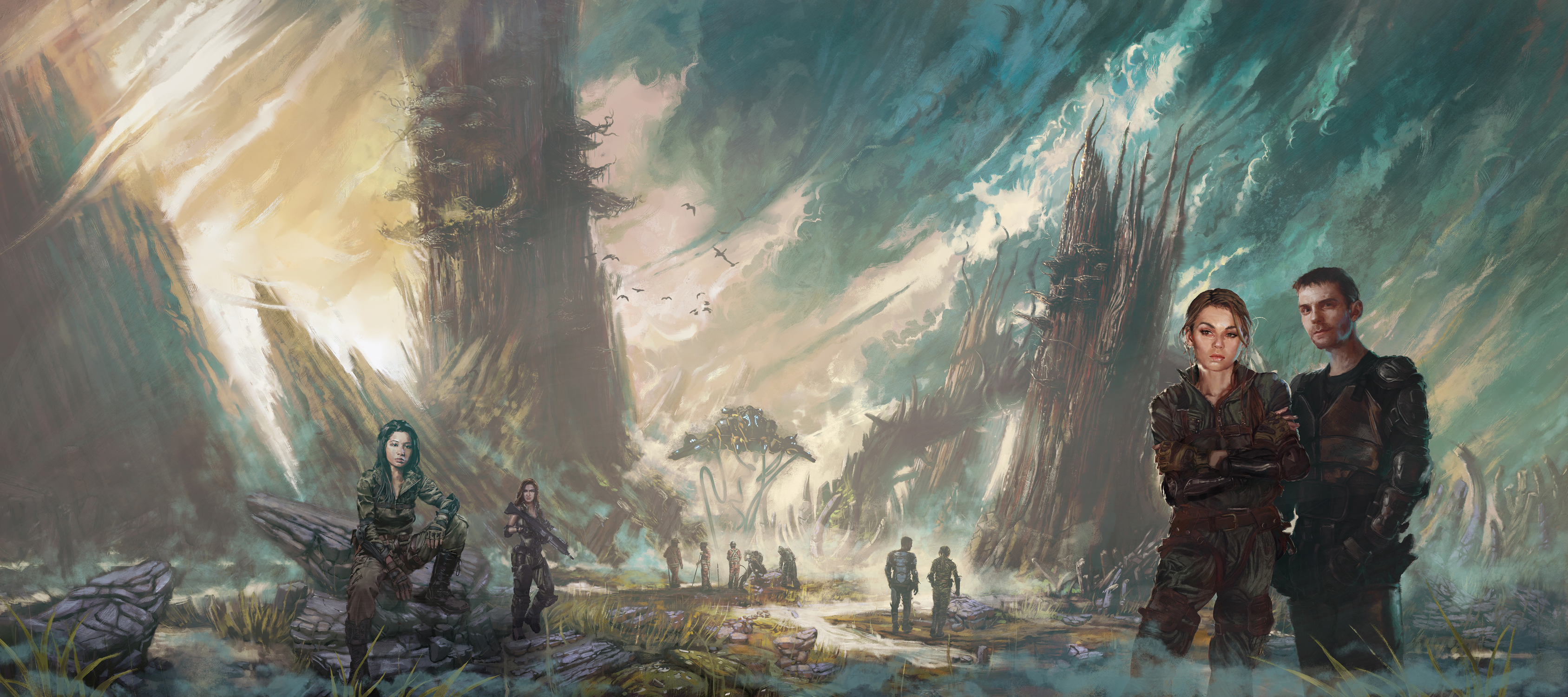 Alien Landscape Artwork by Ken McCuen