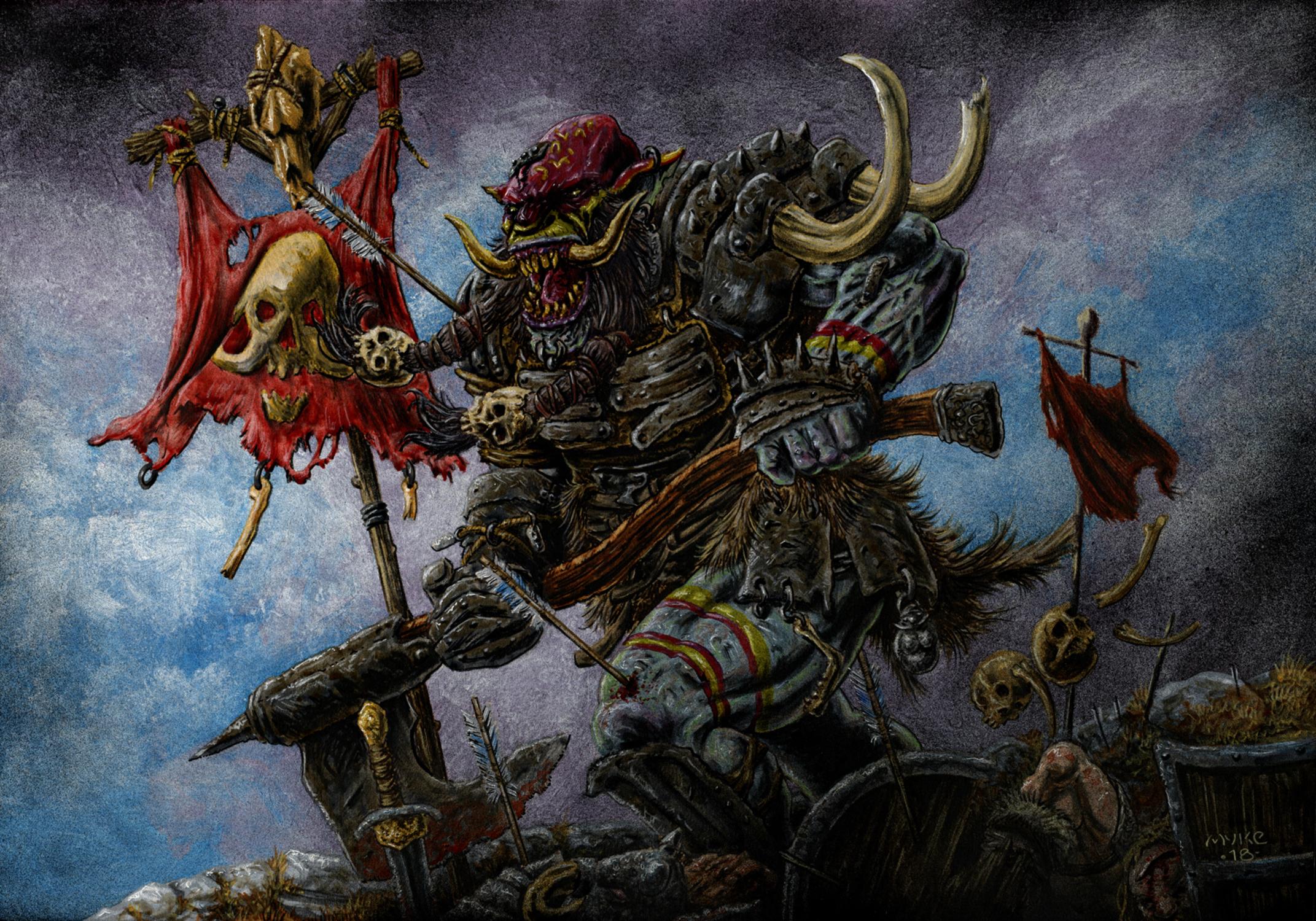 BT Troll Soldier Artwork by Michael Rechlin