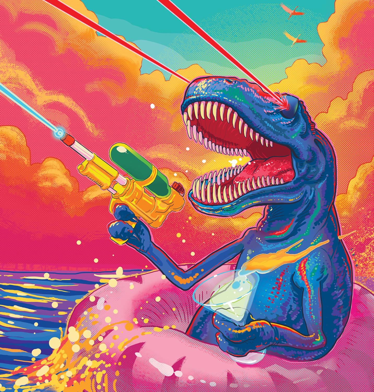 Neon Rex Artwork by Elliot Lang