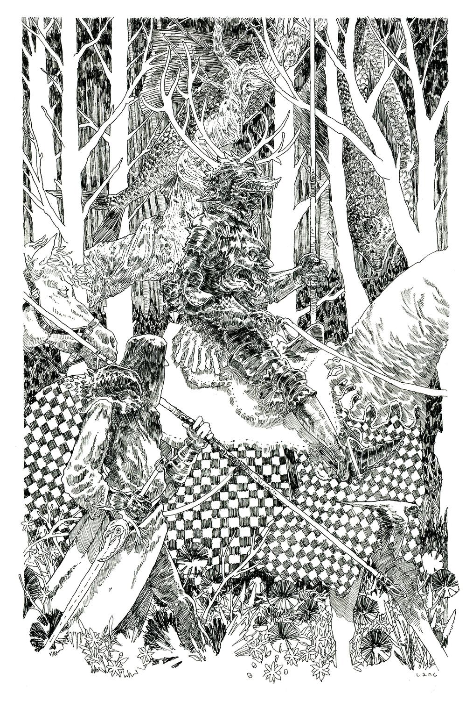 Forest Journey Artwork by Elliot Lang