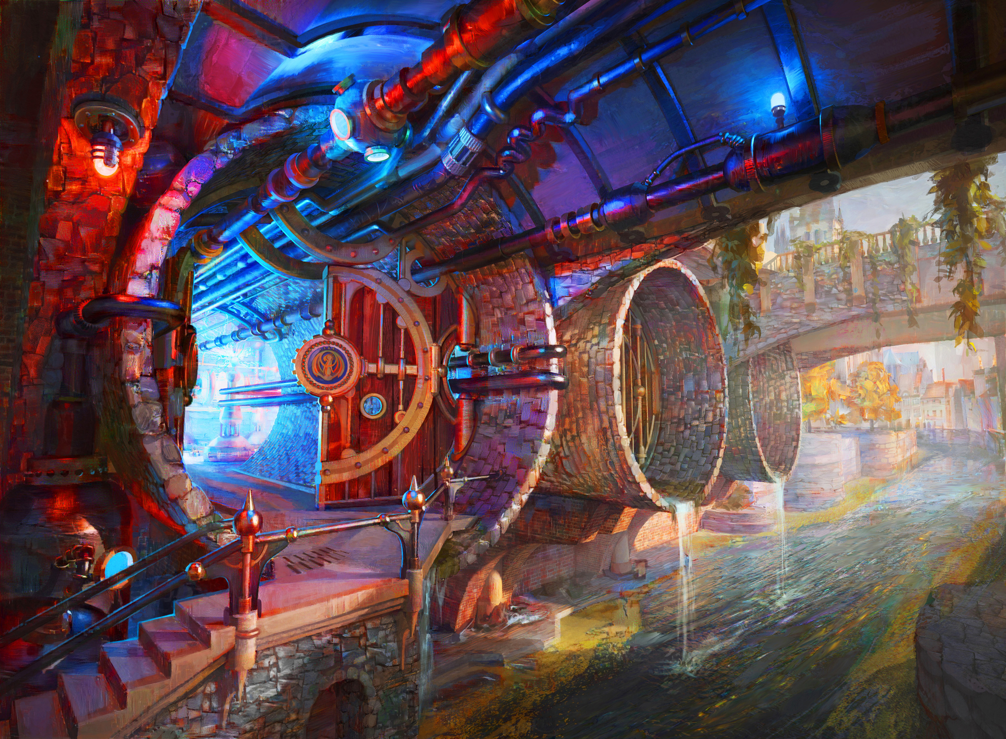 Izzet Guildgate (Secret Entrance) Artwork by Kirsten Zirngibl