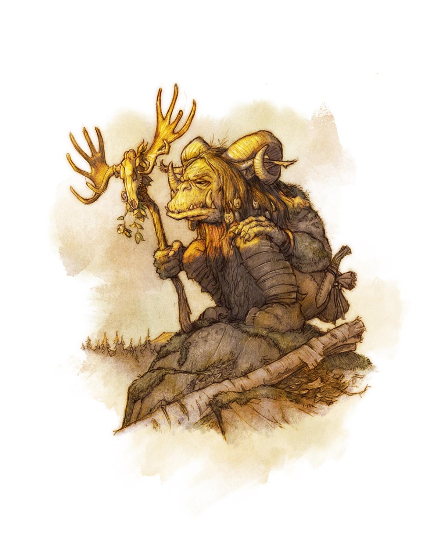 Drakar och Demoner -  Mountain Troll  Artwork by David Brasgalla