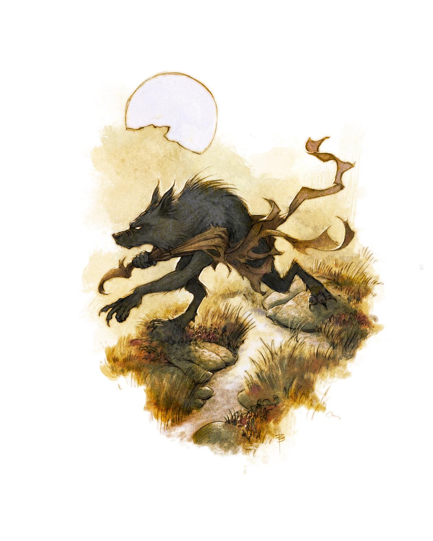 Drakar och Demoner -  Werewolf  Artwork by David Brasgalla
