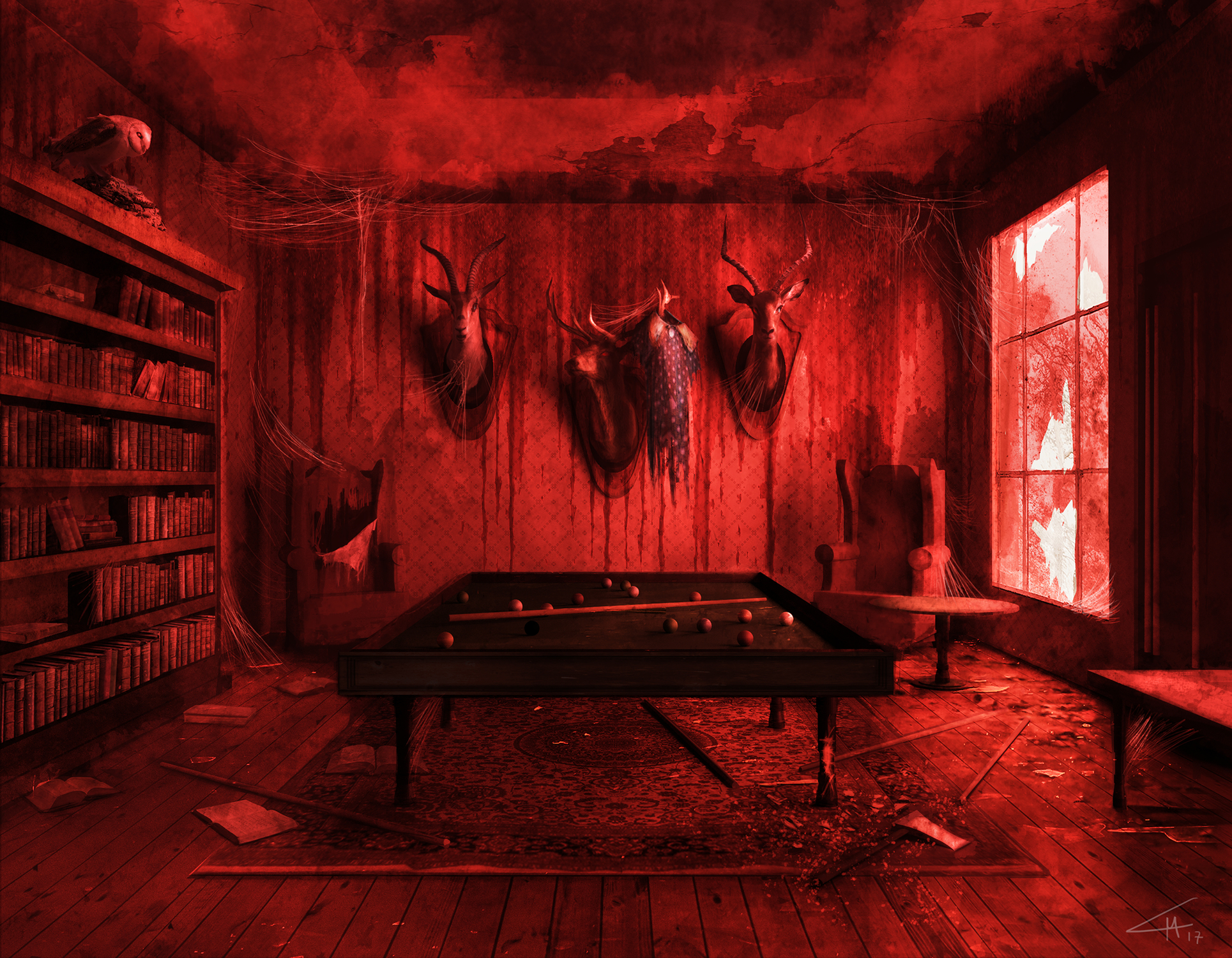 Billiard room Artwork by Luca Maria Mastrantonio