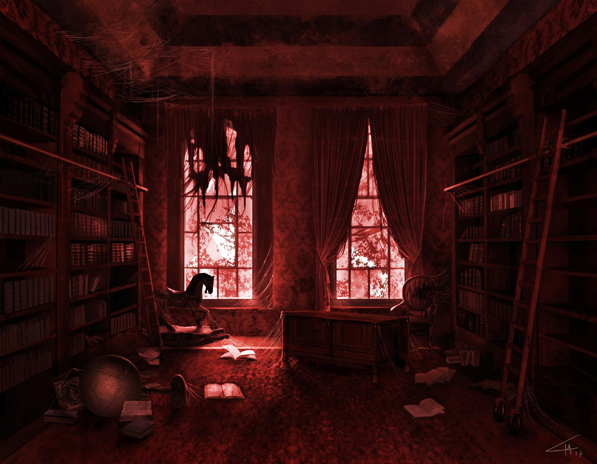 Library Artwork by Luca Maria Mastrantonio