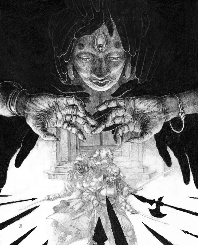 Scrying Trouble Artwork by Jabari Weathers