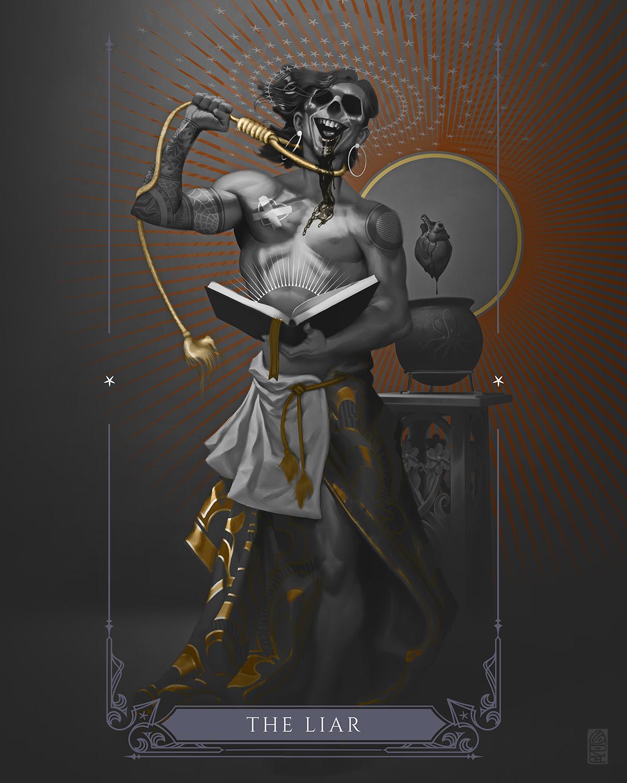 Oracle - The Liar Artwork by Marcel Mercado