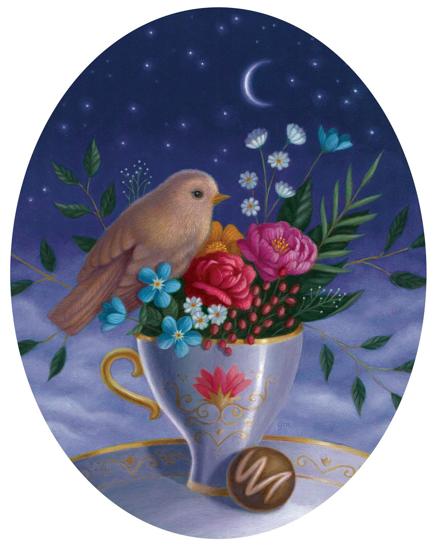 Tea By Starlight Artwork by Gina Matarazzo
