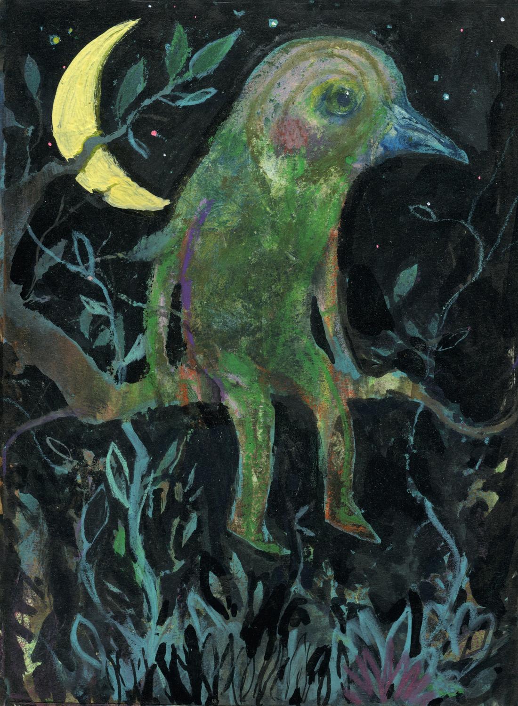 Vogeljunge im Baum Artwork by Nils Hamm