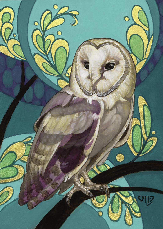 Twilight Owl Artwork by Rhonda Libbey
