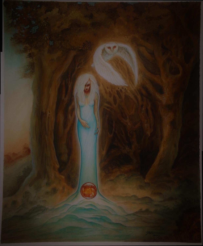 amber oracle Artwork by David  Cameron