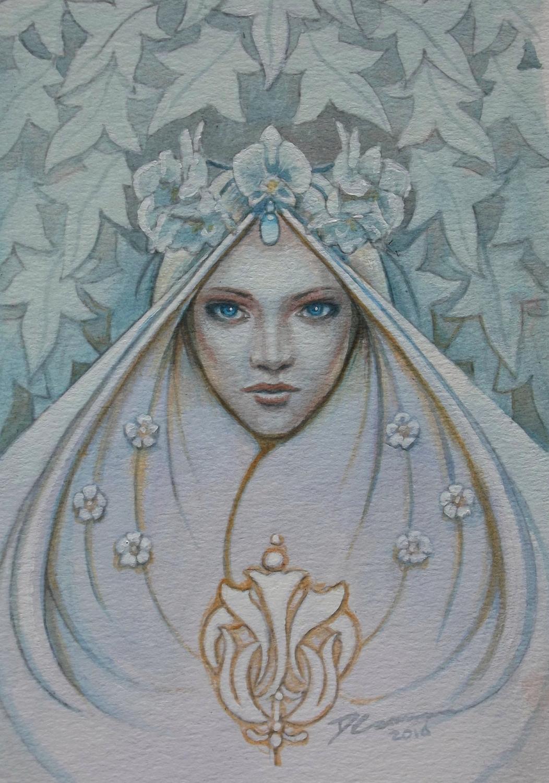 winter bride Artwork by David  Cameron