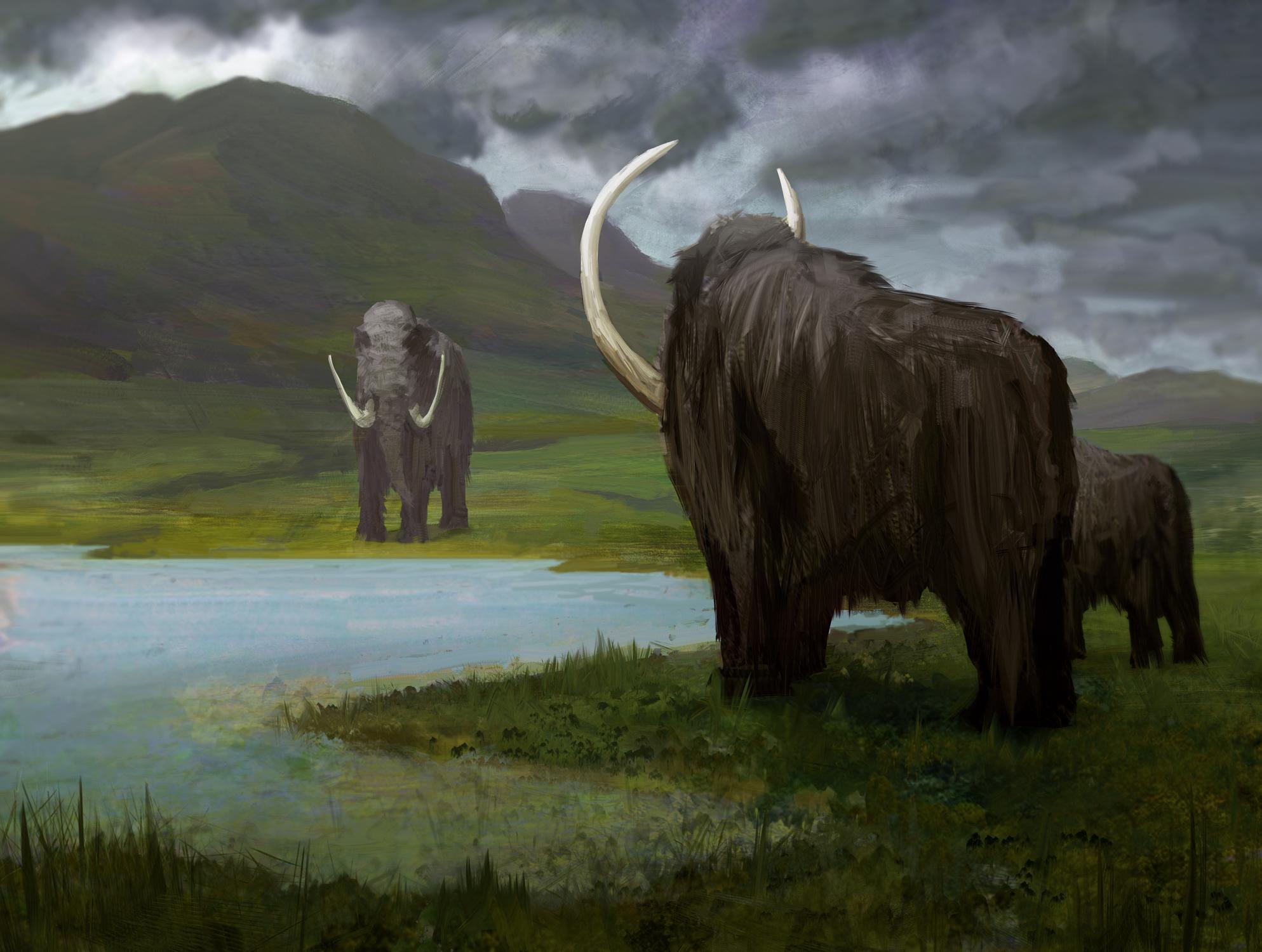 Mammoth's Rest Artwork by Bruno Galuzzi Corsini
