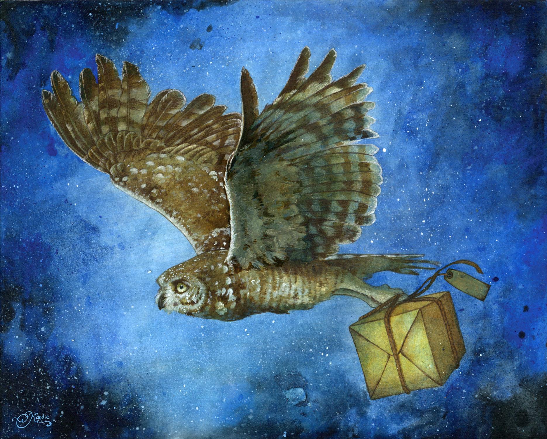 Owl Post Artwork by Mandie LaRue