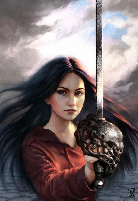 The Cursed Blade Artwork by Francesca Resta