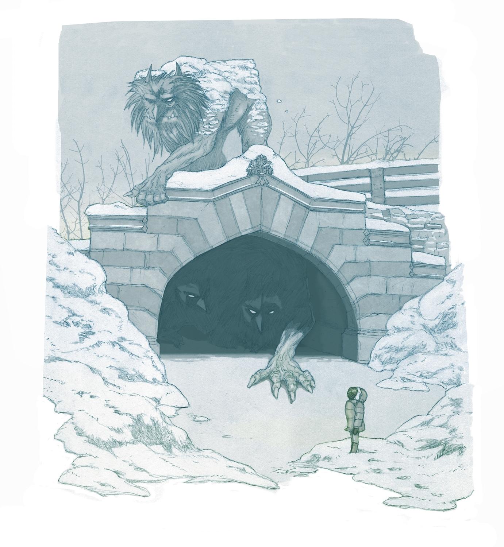 Winter Trolls, NYC Artwork by Herman Lau