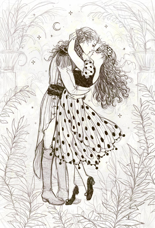 Carnaval Lovers Artwork by Janaina Medeiros