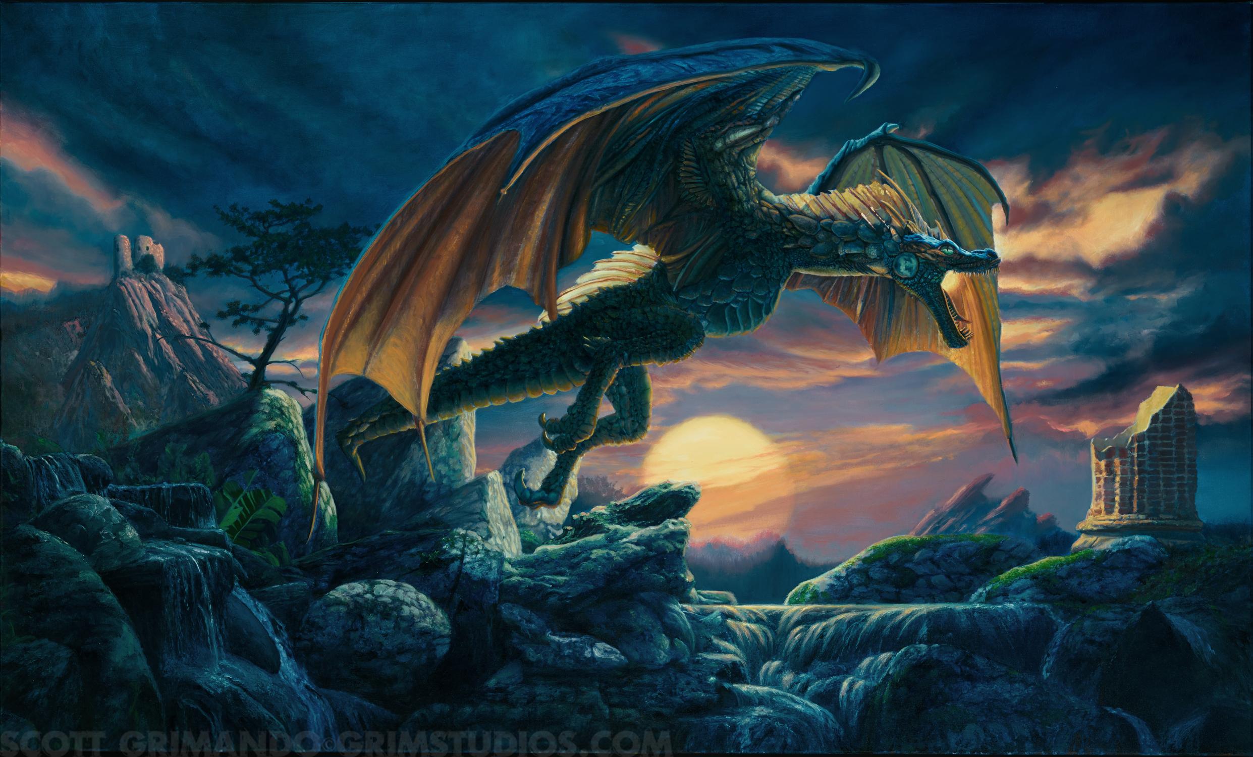 Dragonscape Artwork by Scott Grimando
