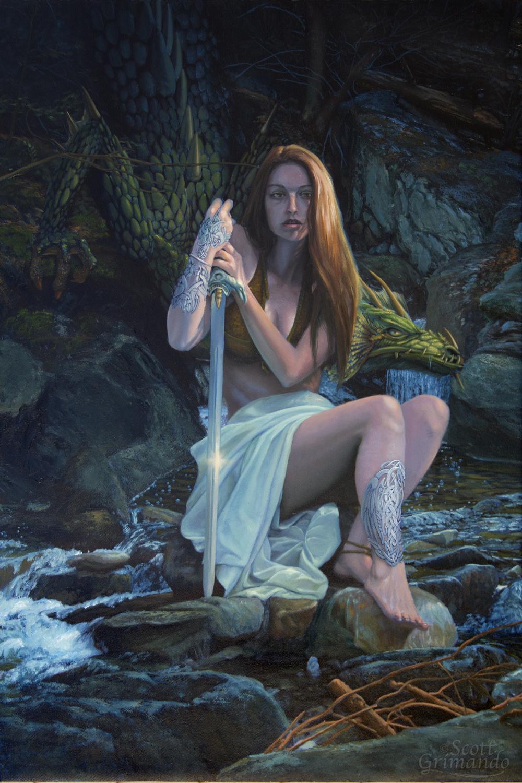 The Dragon Sword Artwork by Scott Grimando