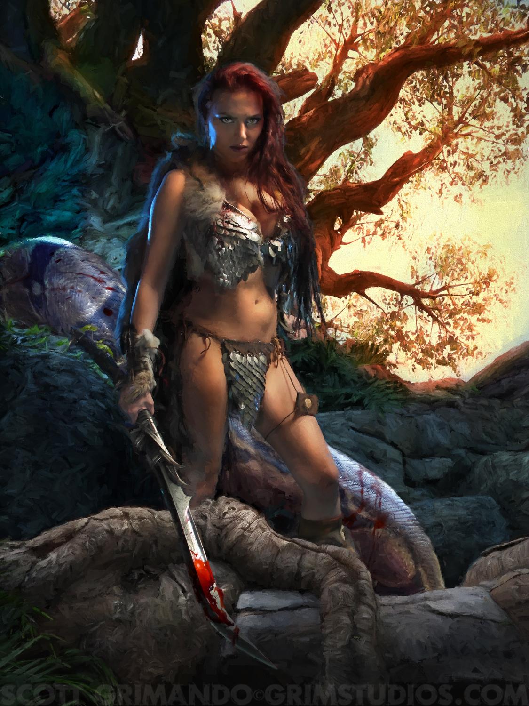 Red Sonja Artwork by Scott Grimando