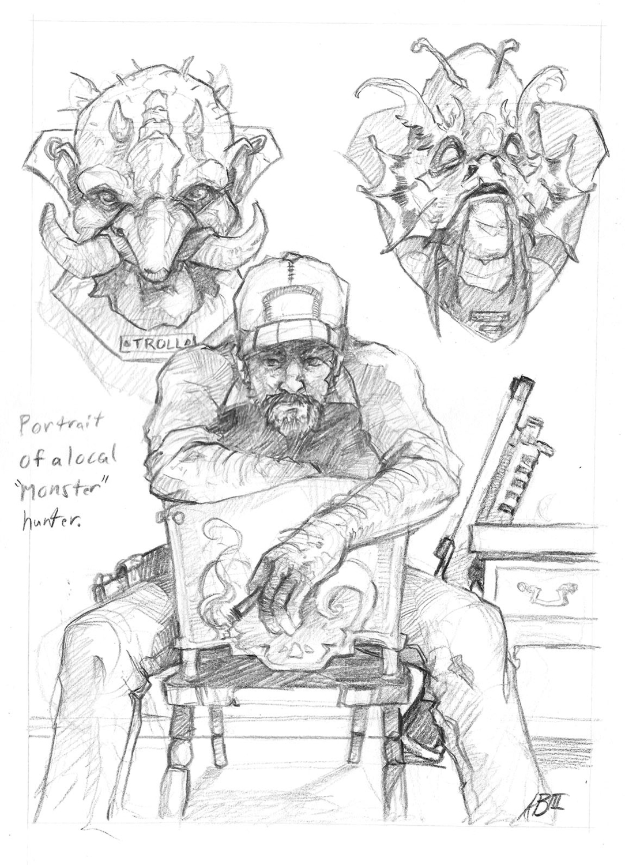 Local Monster Hunter Artwork by Arthur Bowling