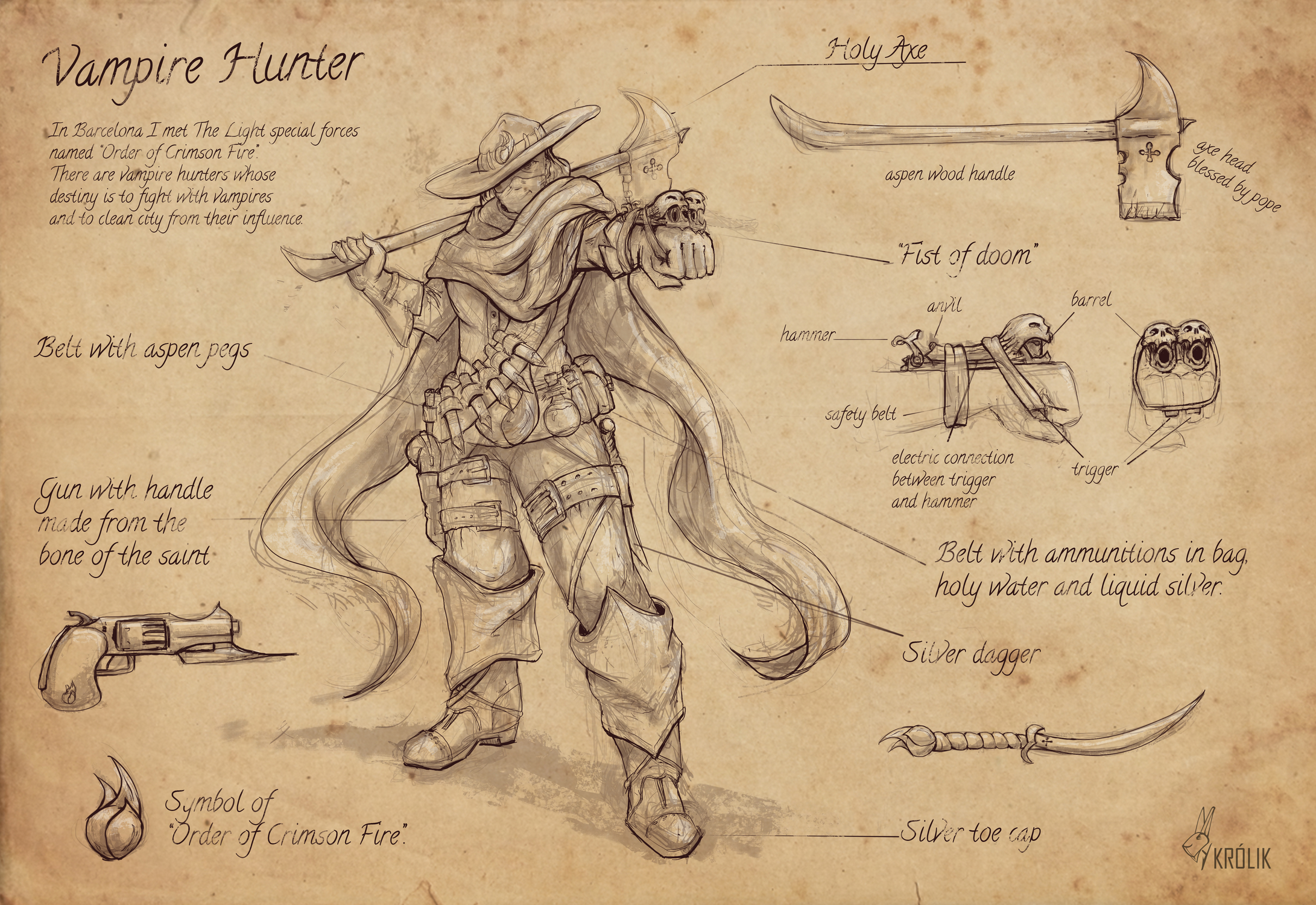 Vampire Hunter (Barcelona) Artwork by Wojciech Królik