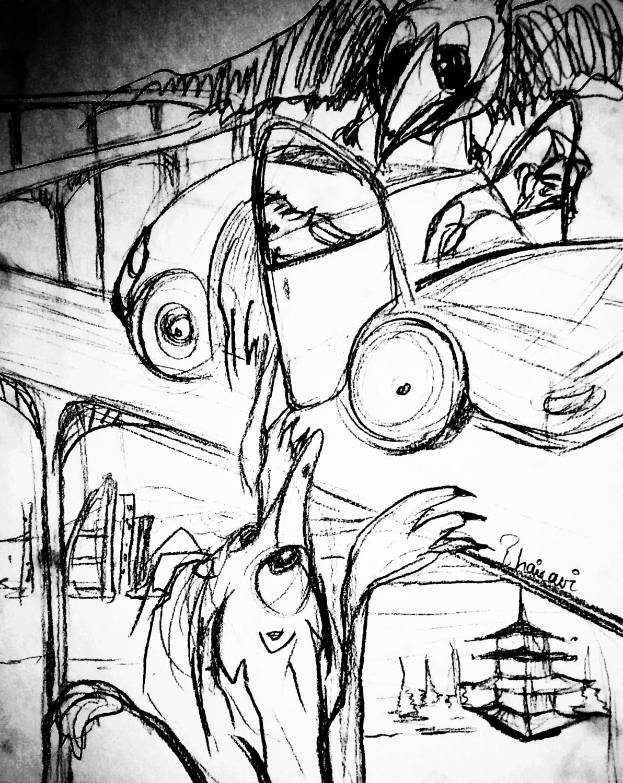 Havoc in Tokyo Artwork by Bhairavi Jathar