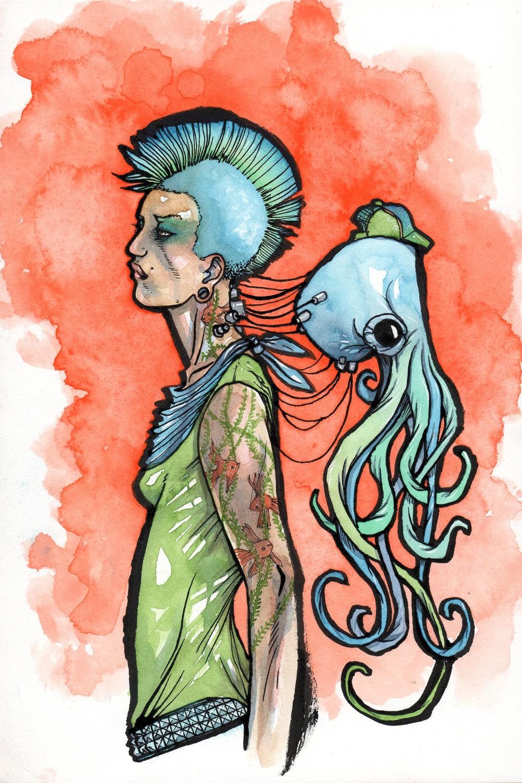 Cephalopunk (Tokyo) Artwork by Cody Vrosh
