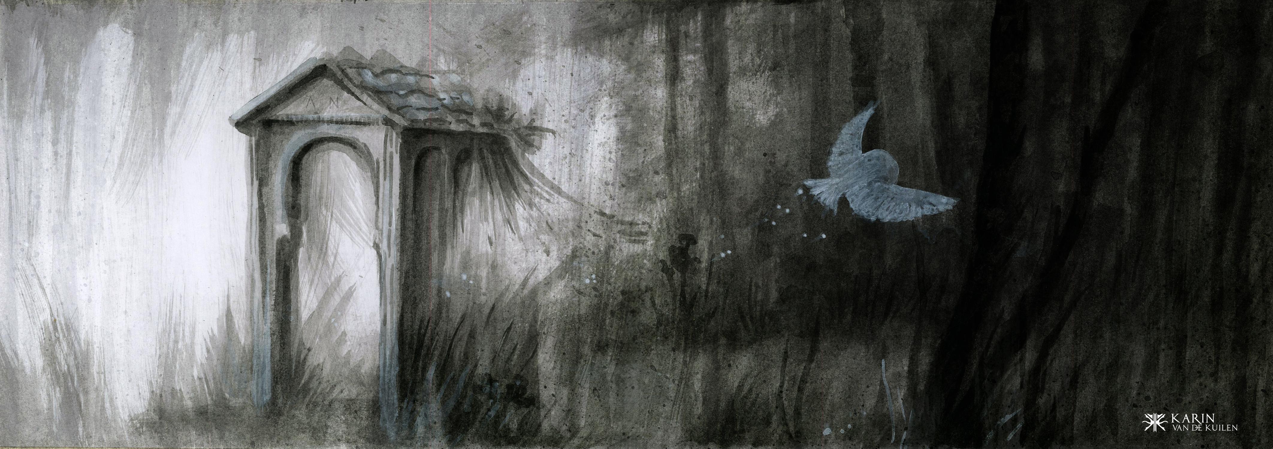 Shadows Gate Artwork by Karin  van de Kuilen