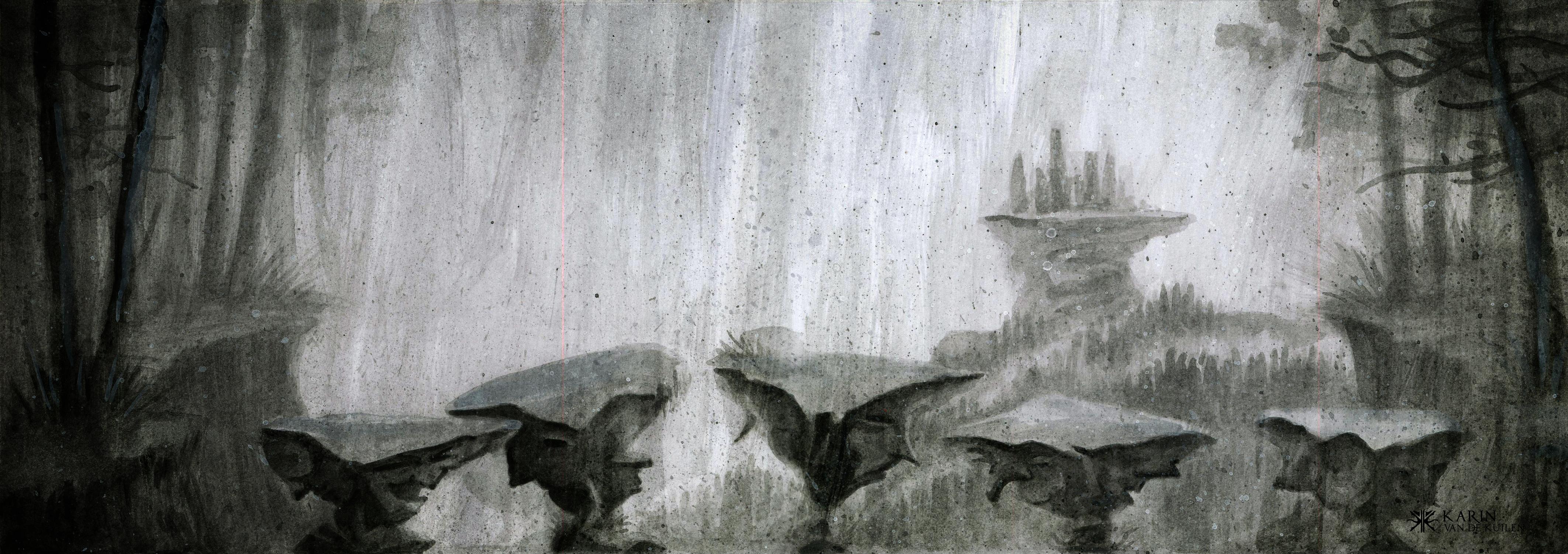 Shadows hideout Artwork by Karin  van de Kuilen