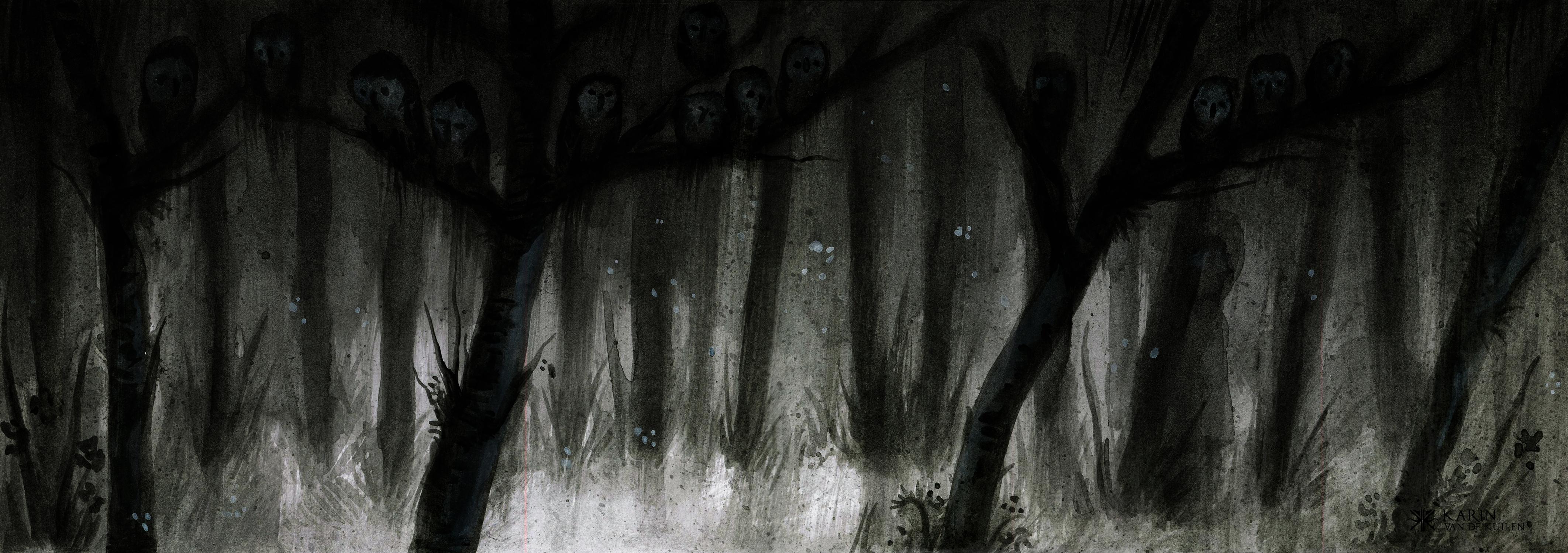 Shadow eyes Artwork by Karin  van de Kuilen