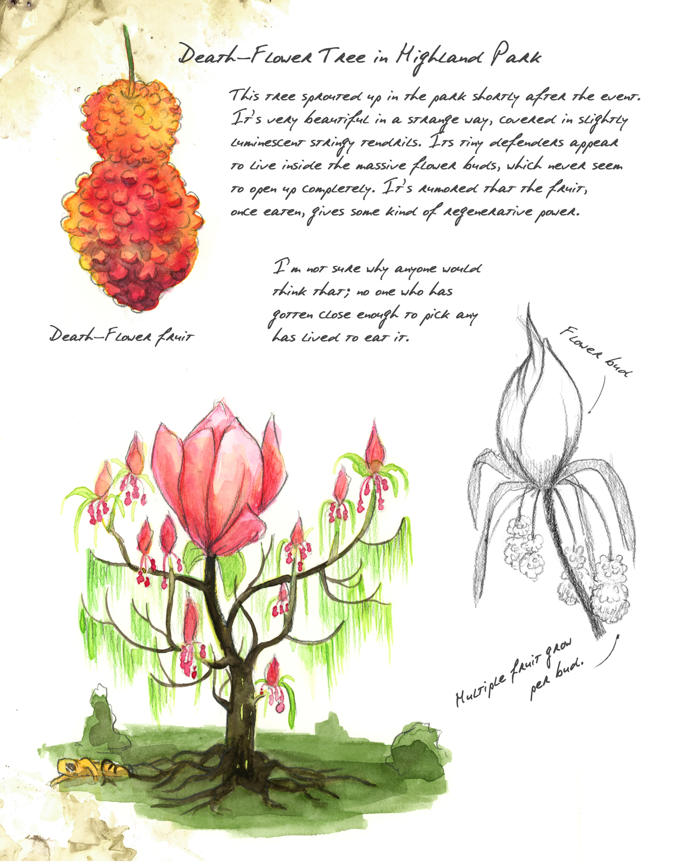 Death Flower Tree Artwork by Maegan Penley