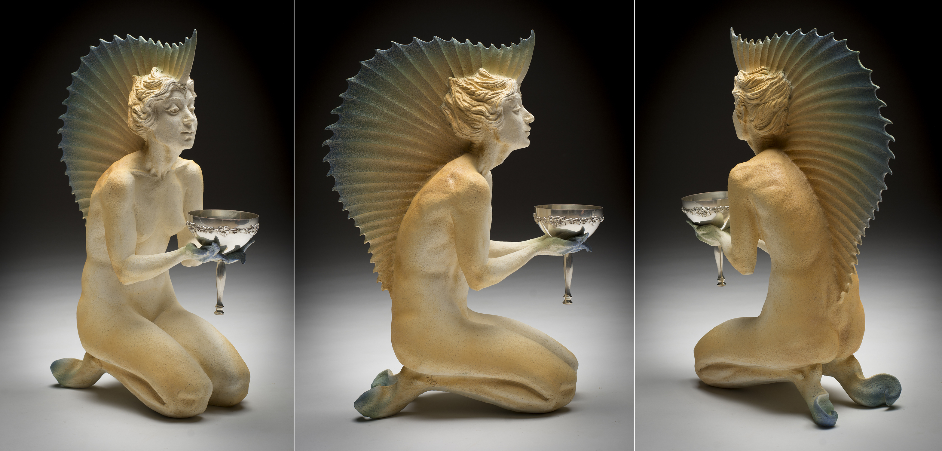 Amphitrite - Sailfish Girl Artwork by Colin  Poole