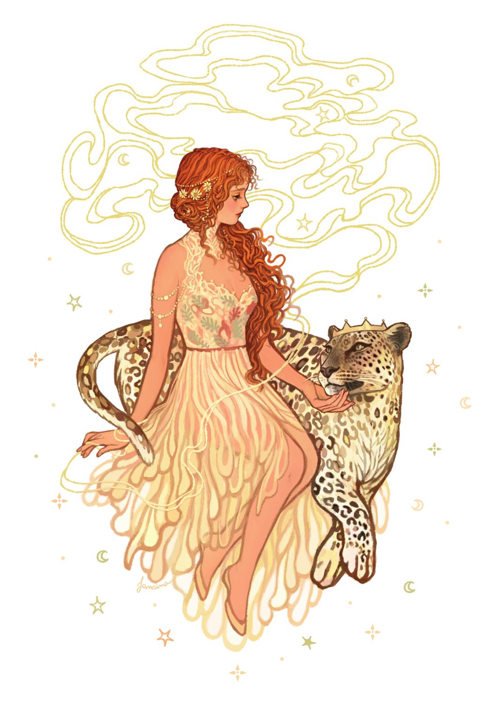 Ariadne & Dionysus Artwork by Janaina Medeiros
