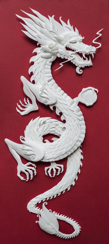 Dragon and Pearl Artwork by Tiffany Budzisz