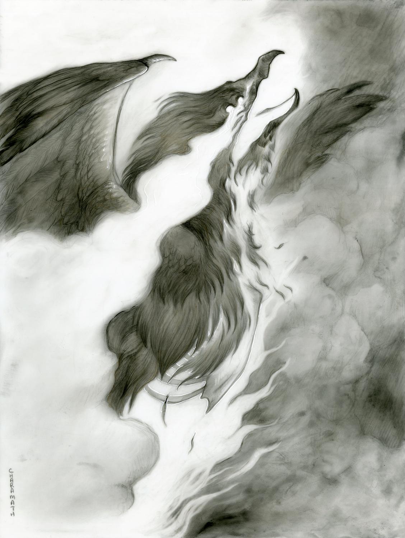 Dark Mythos: Phoenix Artwork by Audre Schutte