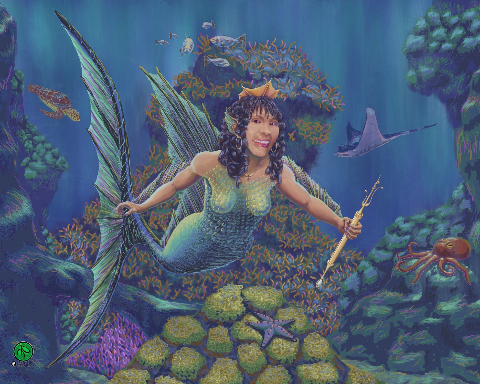 Ying the Bohol Sea Queen Artwork by Richard Thaxton