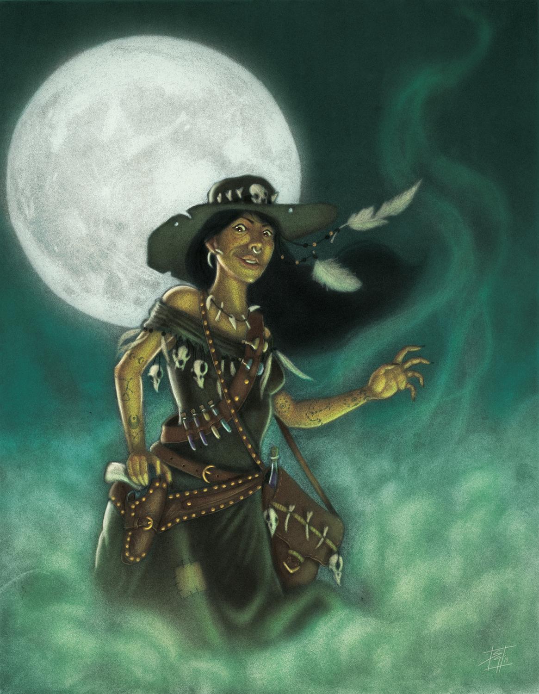 Wild West Witch Artwork by Sebastian  Gomez