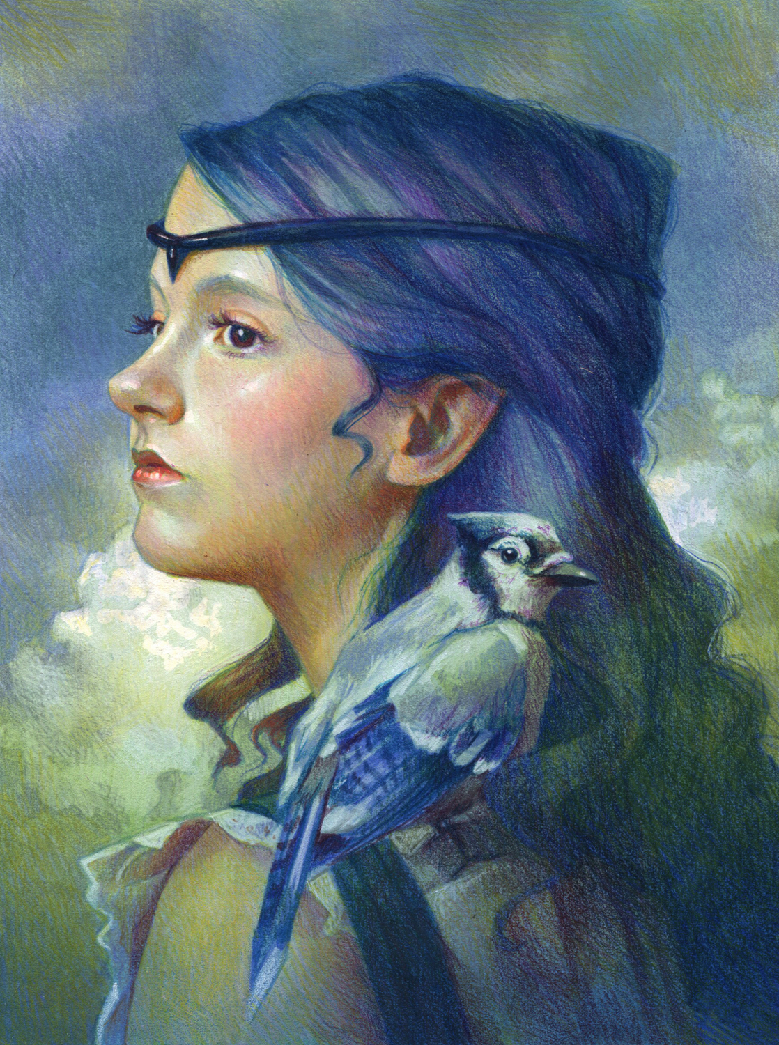 Blue Jay Artwork by Christine Kornacki