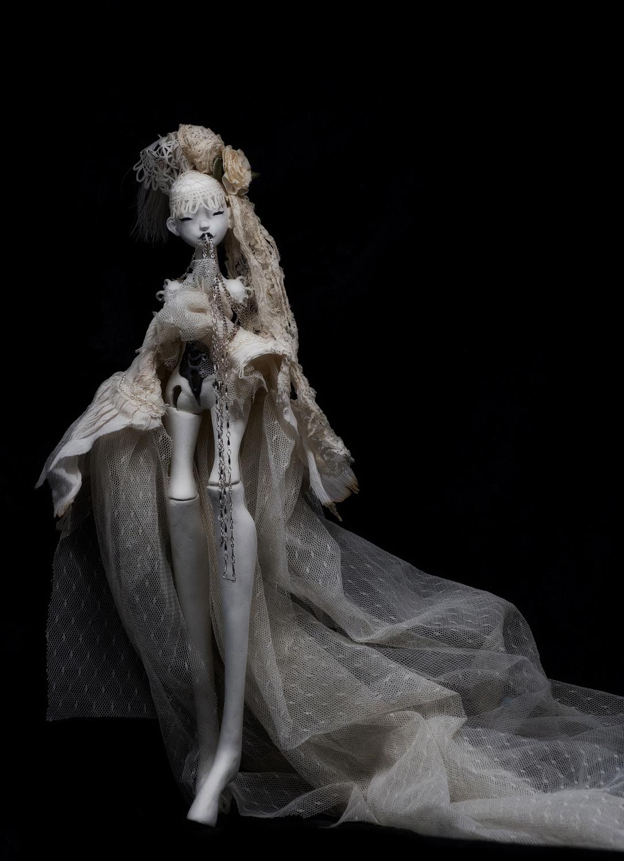 Cream Lace Artwork by Meagan Lillich