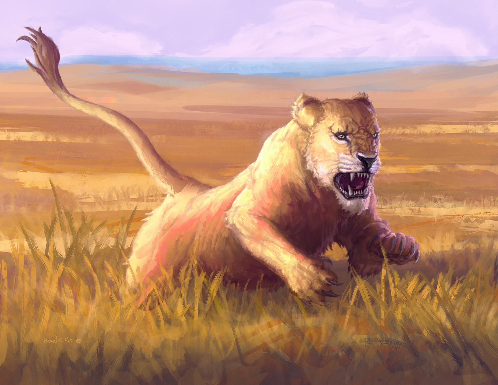 Lioness Artwork by Brian C. Hailes