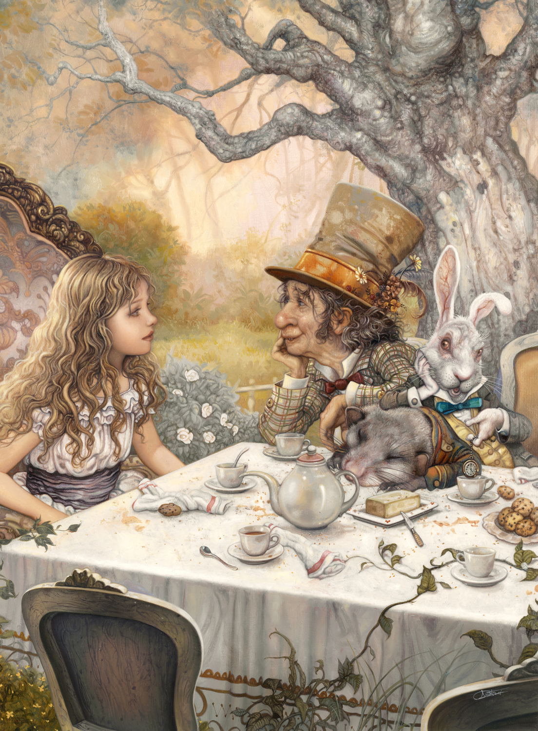 Alice and the Hatter Artwork by Arantza Sestayo