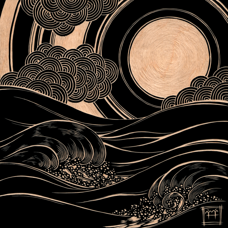 Waves Pt. 5 Artwork by M'fanwy Dean