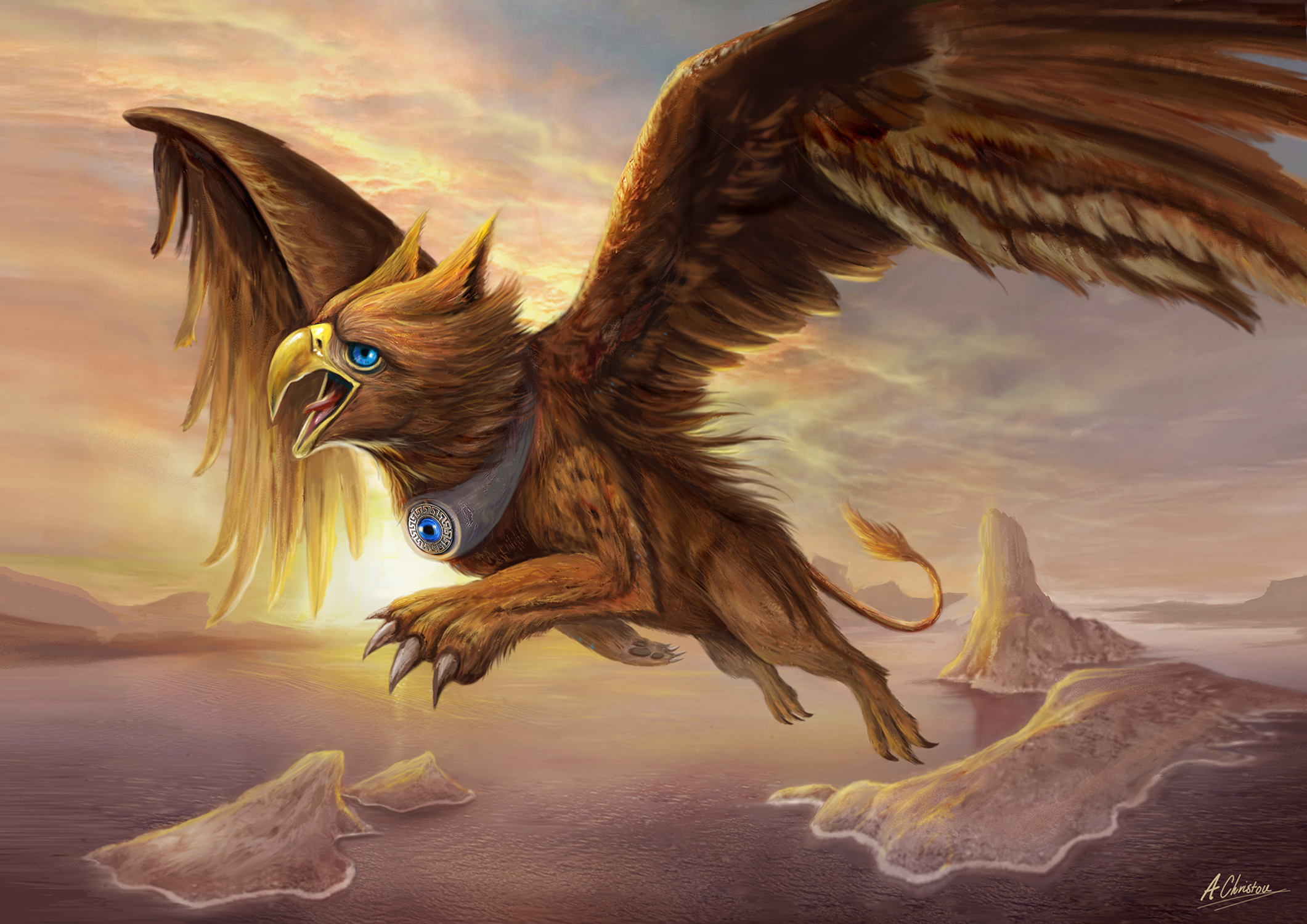 Griffins Charge Artwork by Anthony Christou