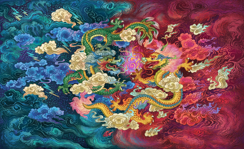 Yin Yang Artwork by Lora Lee